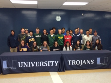 Athletes playing in college
