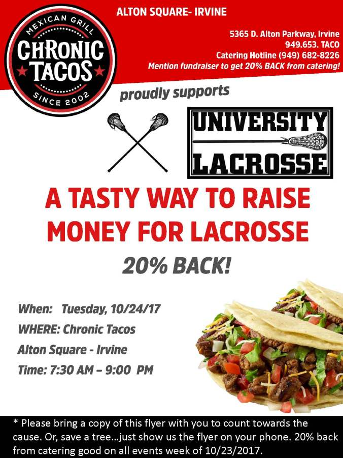 Uni Girls LAX - Fundraising Flyer