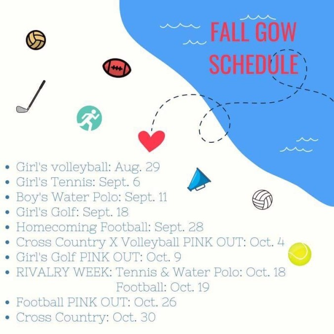 Fall GOW Schedule 2018
