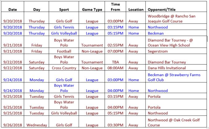 schedule 9.20-9.26
