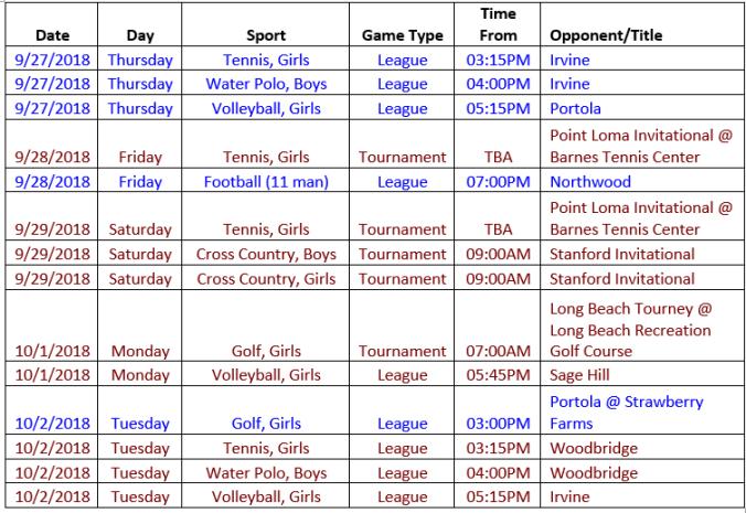 Schedule 9.27 - 10.04