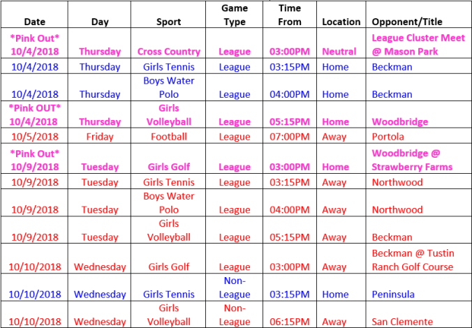 Schedule 10.04-10.10